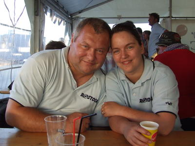 Vater und Tochter: Eckard Pedde und Andrea Scharein - beide sind Schiedsrichter im Handball.